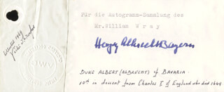Duke Albert Albrecht (bavaria) Autographs 80061