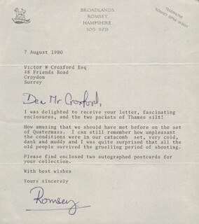 NORTON (8TH BARON BRABOURNE) KNATCHBULL - TYPED LETTER SIGNED 08/07/1980