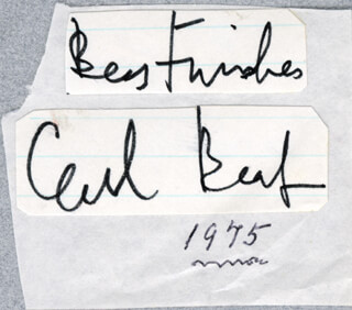SIR CECIL W. BEATON - CLIPPED SIGNATURE CIRCA 1975
