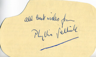PHYLLIS SELLICK - AUTOGRAPH SENTIMENT SIGNED