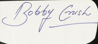 BOBBY CRUSH - AUTOGRAPH