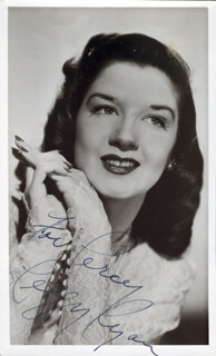 PEGGY RYAN - AUTOGRAPHED INSCRIBED PHOTOGRAPH