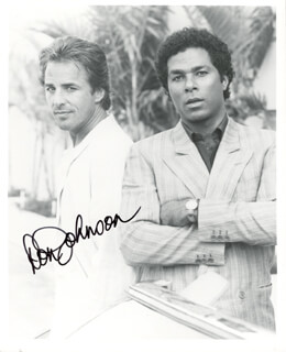 DON JOHNSON - AUTOGRAPHED SIGNED PHOTOGRAPH