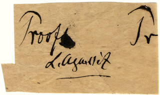 LOUIS AGASSIZ - CLIPPED SIGNATURE