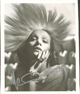 MARLENE DIETRICH - BOOK PHOTOGRAPH SIGNED