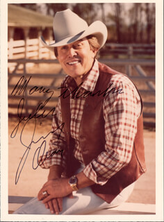 JIMMY DEAN - AUTOGRAPHED INSCRIBED PHOTOGRAPH