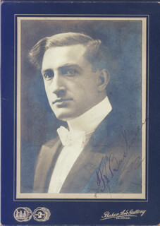 FRANCIS X. BUSHMAN - AUTOGRAPH NOTE ON PHOTOGRAPH SIGNED