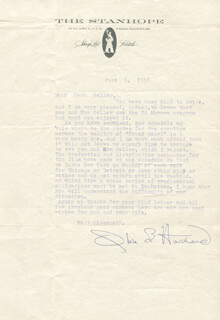 OLIVIA DE HAVILLAND - TYPED LETTER SIGNED 06/07/1958