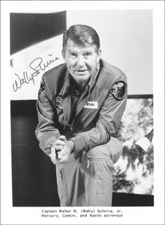 CAPTAIN WALLY M. SCHIRRA - AUTOGRAPHED SIGNED PHOTOGRAPH