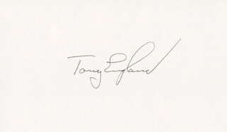 ANTHONY ENGLAND - AUTOGRAPH