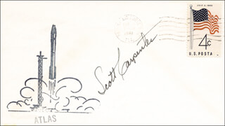 SCOTT CARPENTER - COMMEMORATIVE ENVELOPE SIGNED