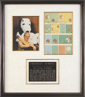 CHARLES M. SCHULZ - PRINTED ART SIGNED IN INK