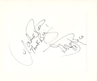 THE RICE TWINS - AUTOGRAPH 1987 CO-SIGNED BY: JOHN RICE, GREG RICE