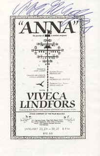 VIVECA LINDFORS - PROGRAM SIGNED