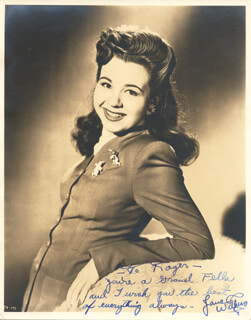 JANE WITHERS - AUTOGRAPHED INSCRIBED PHOTOGRAPH CIRCA 1944