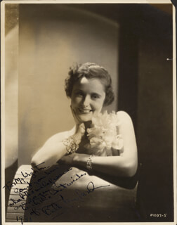 BETTY LAWFORD - AUTOGRAPHED INSCRIBED PHOTOGRAPH 1931