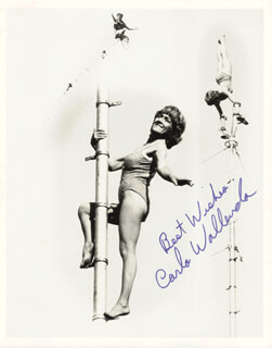 CARLA WALLENDA - AUTOGRAPHED SIGNED PHOTOGRAPH