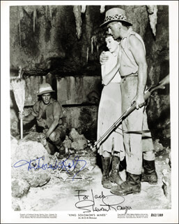 KING SOLOMON''S MINES MOVIE CAST - AUTOGRAPHED INSCRIBED PHOTOGRAPH CO-SIGNED BY: STEWART GRANGER, DEBORAH KERR
