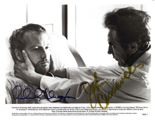 WHOSE LIFE IS IT ANYWAY MOVIE CAST - AUTOGRAPHED SIGNED PHOTOGRAPH CO-SIGNED BY: RICHARD DREYFUSS, JOHN CASSAVETES