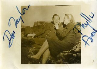 DON TAYLOR - AUTOGRAPHED SIGNED PHOTOGRAPH CO-SIGNED BY: PHYLLIS AVERY