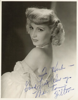 MARTHA TILTON - AUTOGRAPHED INSCRIBED PHOTOGRAPH