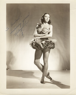 KATHRYN LEE - AUTOGRAPHED INSCRIBED PHOTOGRAPH