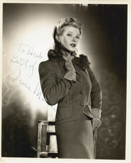 IRENE MANNING - AUTOGRAPHED INSCRIBED PHOTOGRAPH