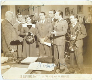 IS EVERYBODY HAPPY? MOVIE CAST - AUTOGRAPHED SIGNED PHOTOGRAPH CO-SIGNED BY: NAN WYNN, MICHAEL DUANE