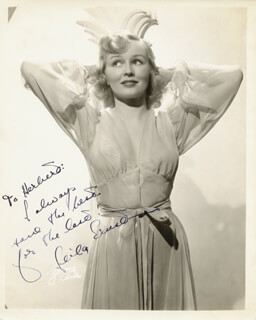 LEILA ERNST - AUTOGRAPHED INSCRIBED PHOTOGRAPH