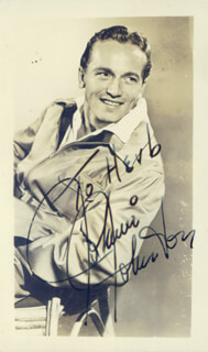 JOHNNY JOHNSTON - AUTOGRAPHED INSCRIBED PHOTOGRAPH