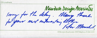 PETER MURDOCH - AUTOGRAPH NOTE SIGNED