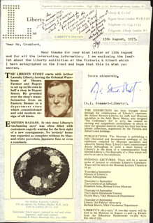 ARTHUR I. STEWART-LIBERTY - TYPED LETTER SIGNED 08/15/1975