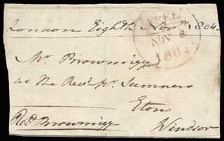 Autographs: GENERAL ROBERT BROWNRIGG - FREE FRANK SIGNED 11/08/1804