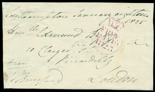 GENERAL WILLIAM CARR 1ST VISCOUNT BERESFORD BERESFORD - FREE FRANK SIGNED 01/18/1825