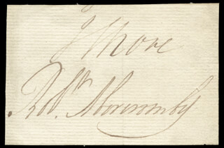 Autographs: GENERAL ROBERT ABERCROMBY - SIGNATURE(S)
