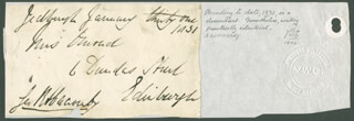 JAMES (1ST BARON DUNFERMLINE) ABERCROMBY - AUTOGRAPH ENVELOPE SIGNED 01/31/1831
