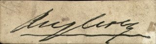 Autographs: HENRY WILLIAM (1ST MARQUESS OF ANGLESEY) PAGET - CLIPPED SIGNATURE