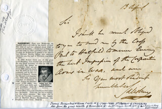 Autographs: MARQUESS OF SALISBURY II (JAMES CECIL) - AUTOGRAPH LETTER SIGNED 4/13