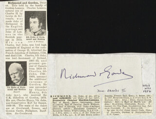 CHARLES HENRY (7TH DUKE OF RICHMOND) GORDON-LENNOX - AUTOGRAPH