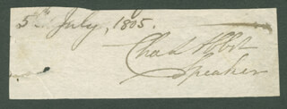 Autographs: CHARLES (BARON COLCHESTER I) ABBOT - SIGNATURE(S) 07/05/1805