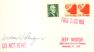 CHIEF JUSTICE WILLIAM H. REHNQUIST - ENVELOPE SIGNED