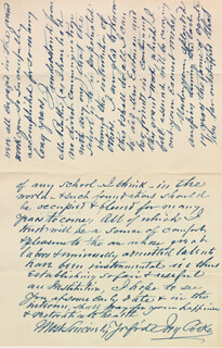 JAY COOKE - AUTOGRAPH LETTER SIGNED 02/27/1900