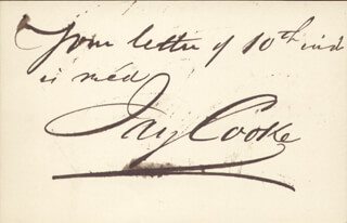 JAY COOKE - AUTOGRAPH SENTIMENT SIGNED