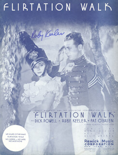RUBY KEELER - SHEET MUSIC SIGNED
