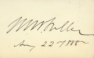 CHIEF JUSTICE MELVILLE W. FULLER - AUTOGRAPH 08/22/1888