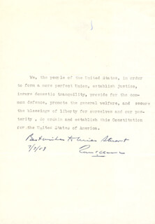 Autographs: ASSOCIATE JUSTICE TOM C. CLARK - INSCRIBED TYPESCRIPT SIGNED 07/07/1958