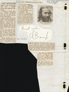 Autographs: CHRIS BONINGTON - AUTOGRAPH SENTIMENT SIGNED