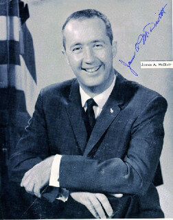 BRIGADIER GENERAL JAMES A. McDIVITT - AUTOGRAPHED SIGNED PHOTOGRAPH