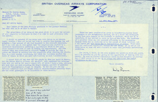 WILLIAM MILES THOMAS - TYPED LETTER SIGNED 02/26/1952