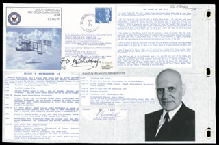 FRANCIS W. REICHELDERFER - COMMEMORATIVE ENVELOPE SIGNED